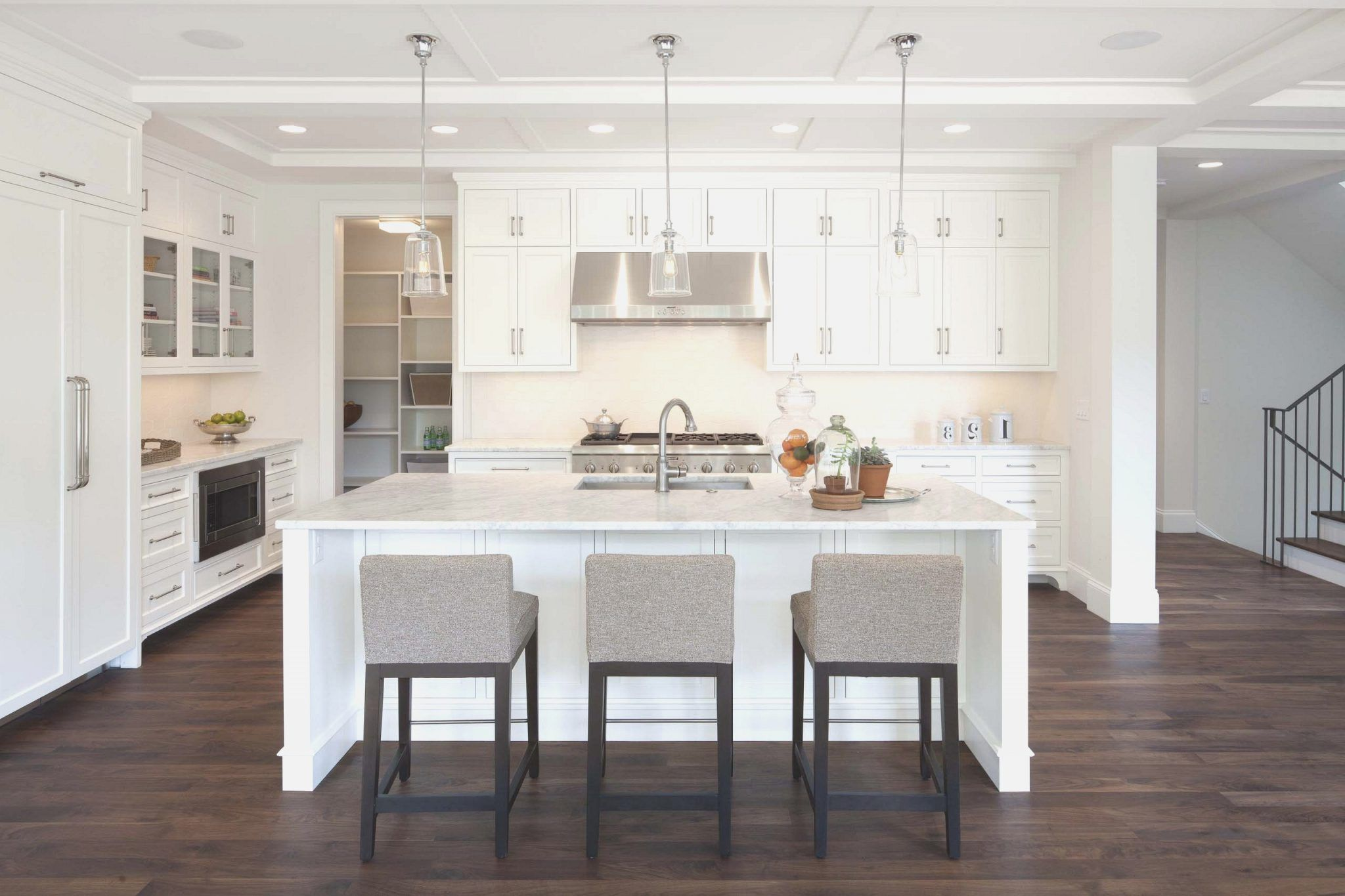 Awesome White Kitchen Island With Stools Antiqued White Kitchen Pdpeps Interior Chair Design Pdpepsorg