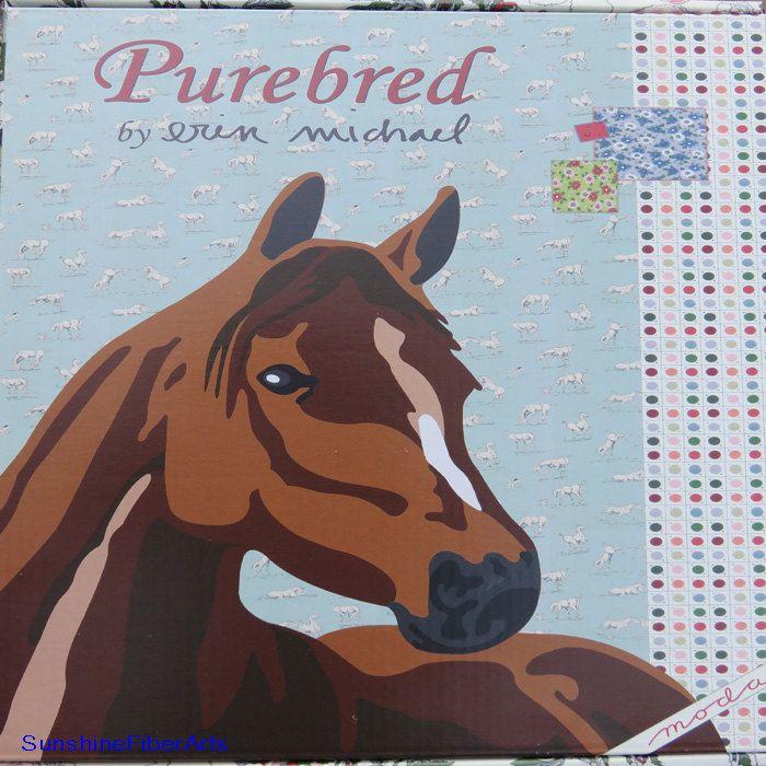 Purebred Quilt Kit - Erin Michael - Moda - KIT26090 - Wilbur - Horse - Applique - Quilt by SunshineFiberArts on Etsy
