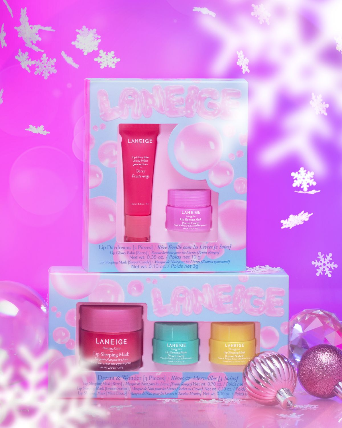 Its Snowing Laneige Holiday Sets In 2020 Gift Set Effective Skin Care Products Skin Care Kit