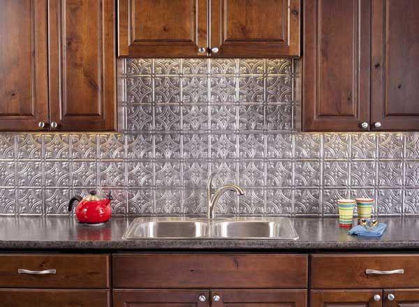 Fasade Backsplash Panel Traditional 1 In Crosshatch Silver