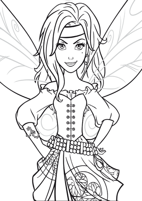 Zarina Pirate Fairy Fairy Coloring Pages Fairy Coloring Tinkerbell Coloring Pages