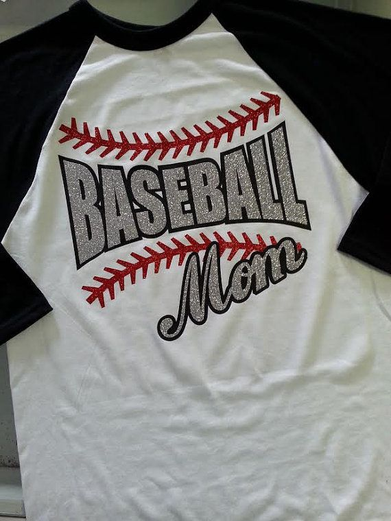 baseball mom i absolutely love glitter flake use heat transfer materials and a heat press to make your own mom apparel - Baseball Shirt Design Ideas