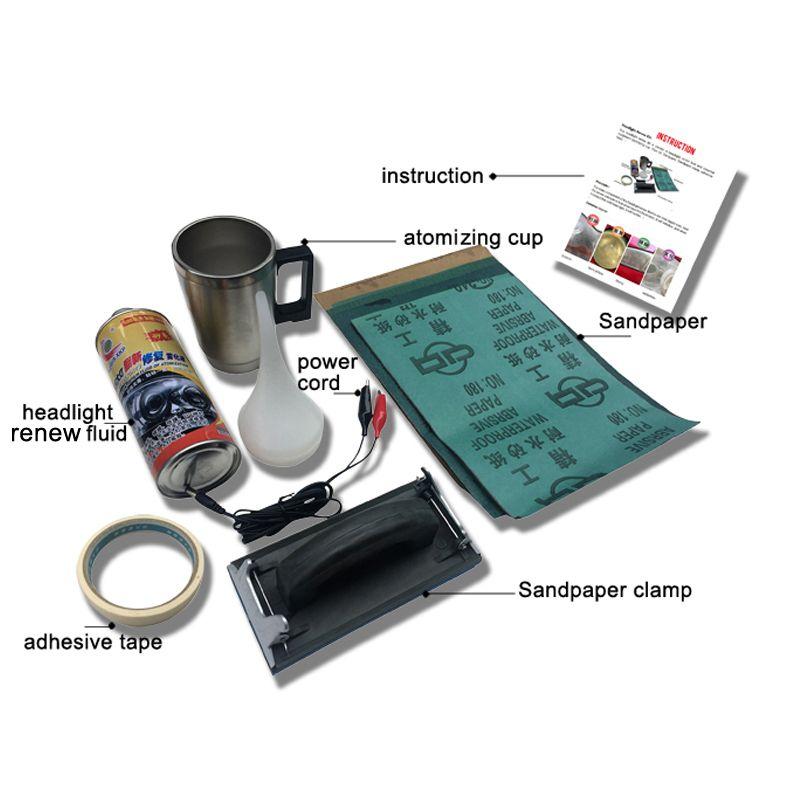 Automotive Headlight Restorer Kit Car Headlight Cleaner Headlamp