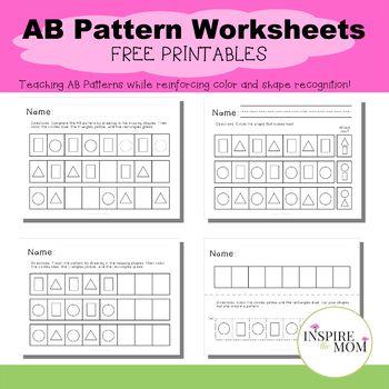AB Pattern Worksheets   Ab pattern worksheet, Pattern ...