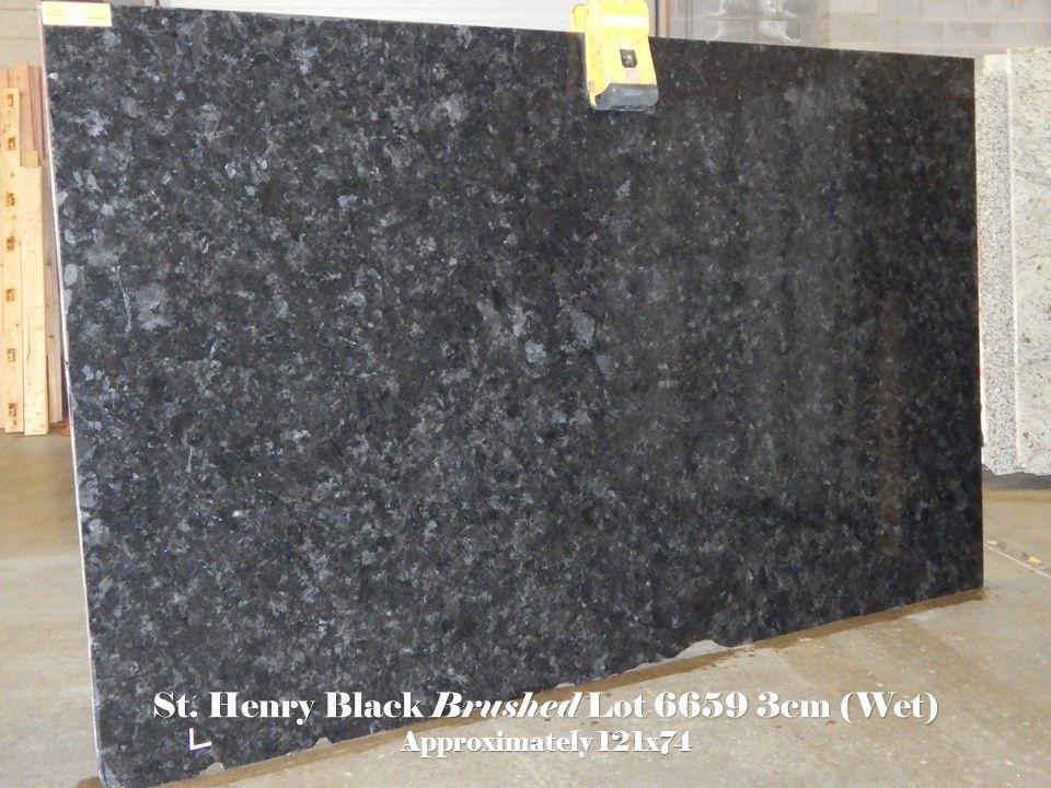 St Henry Black Granite Brushed Granite Slab Natural Granite Black Granite