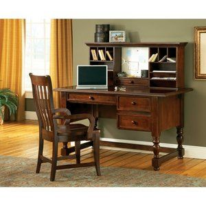 Steve Silver Bella Desk with Optional Hutch and Chair - Cherry