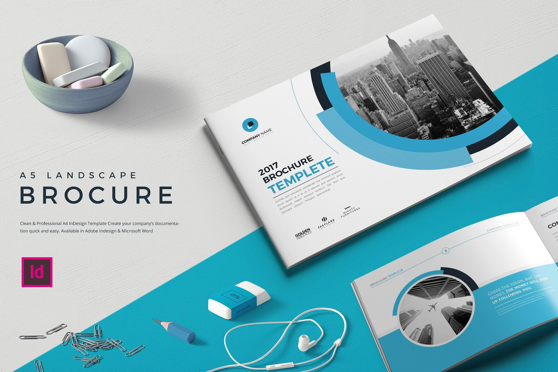 A5 Landscape Co Brochure Brochure Company Profile Brochure Design
