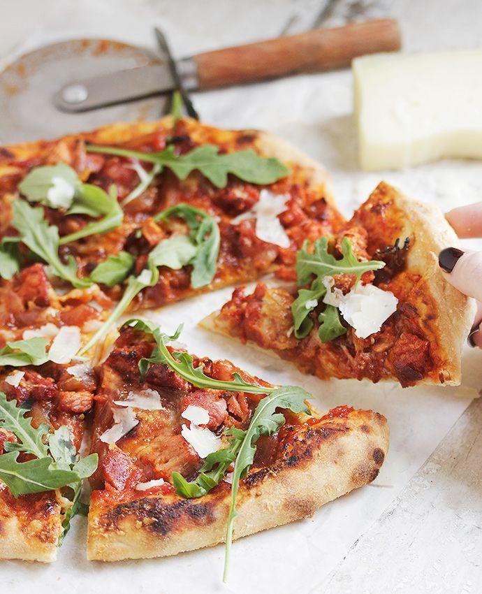 how to make chorizo pizza