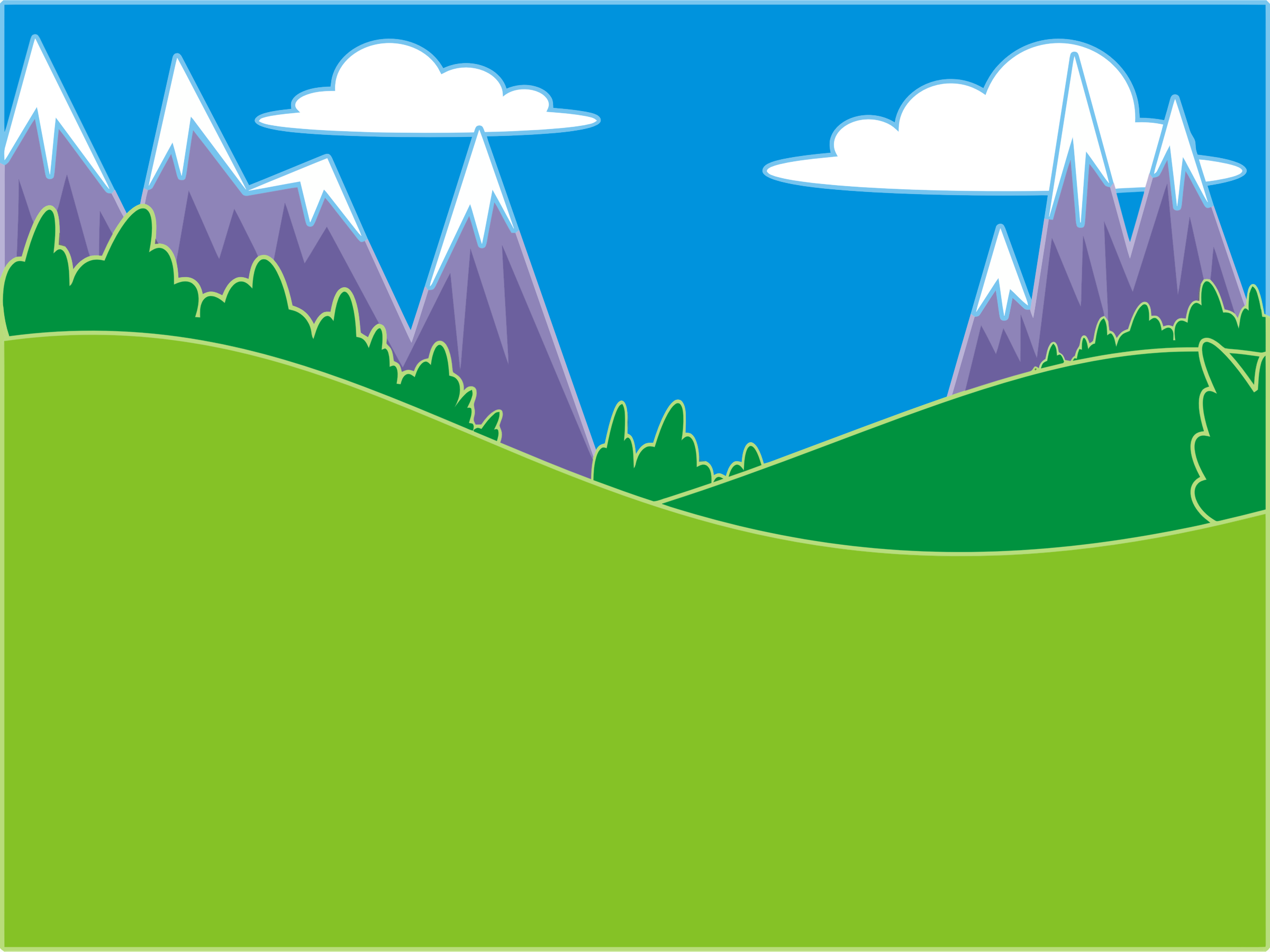 Green Hills And Mountains Landscape by GDJ, Pixabay., on
