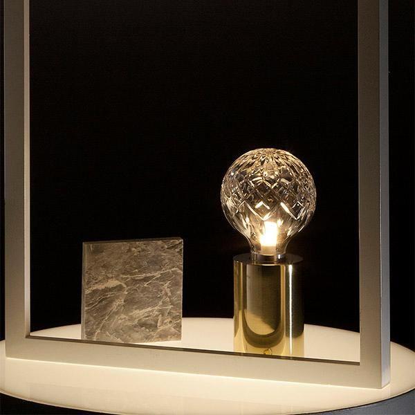 Lee Broom Clear Crystal Bulb Table Lamp Live Light Bulb Table Lamp