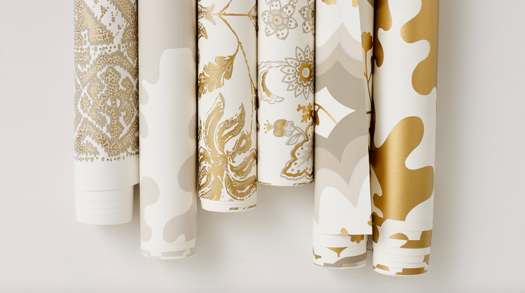 Tilton Fenwick x Hygge & West Gold Wallpaper Hygge