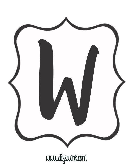 Free Printable Black And White Banner Letters  Black Letter