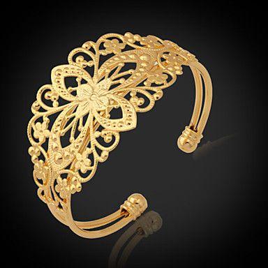 9526c9038c15c u7® pulseiras vintage para mulheres 18k pedaços de ouro cheias banhado a ouro  pulseira cuff de 2016 por €6.85