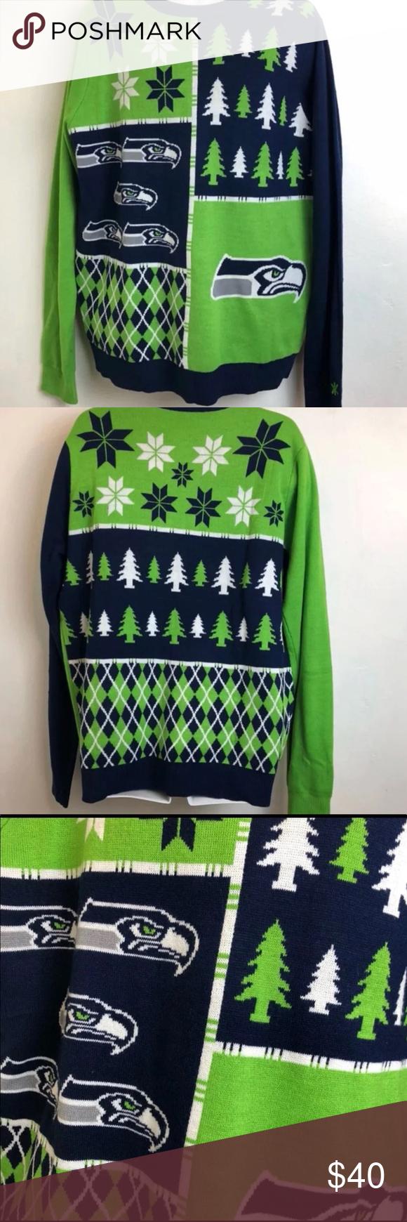 Seattle Seahawks Ugly Christmas Sweater Xl My Posh Closet