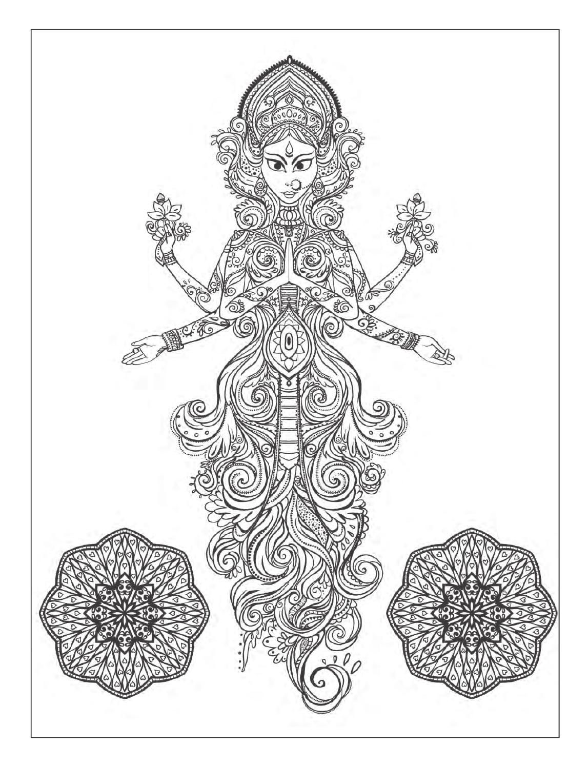 Yoga and meditation coloring book for adults: With Yoga ...