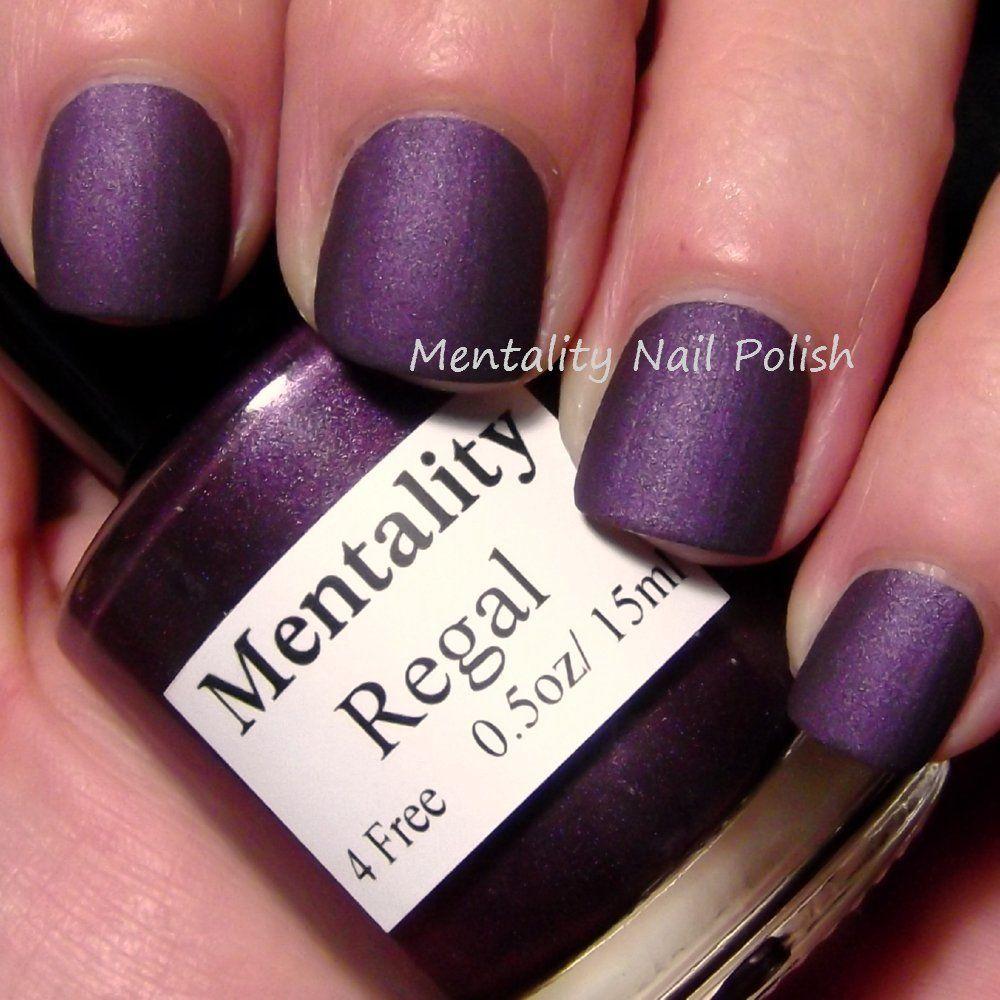 Mentality Nail Polish - Regal, a medium-dark red purple from the ...