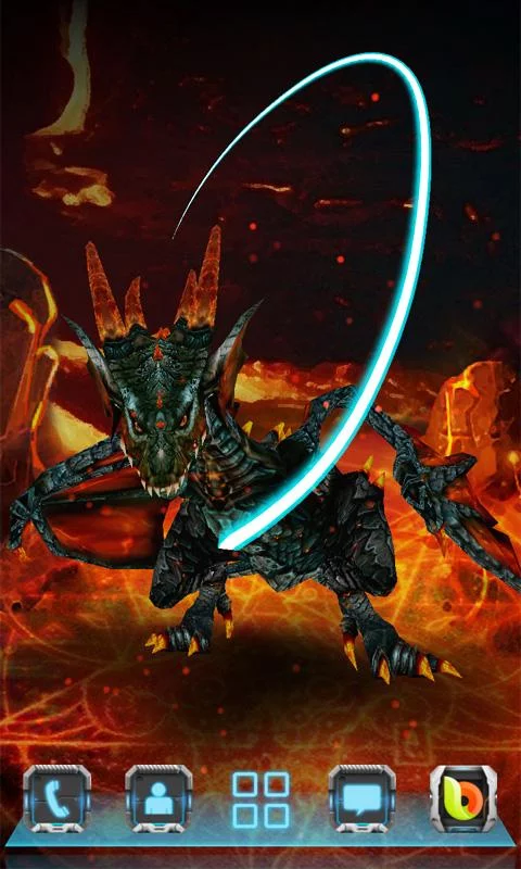 Apk Next Fire Dragon Livewallpaper Para Android