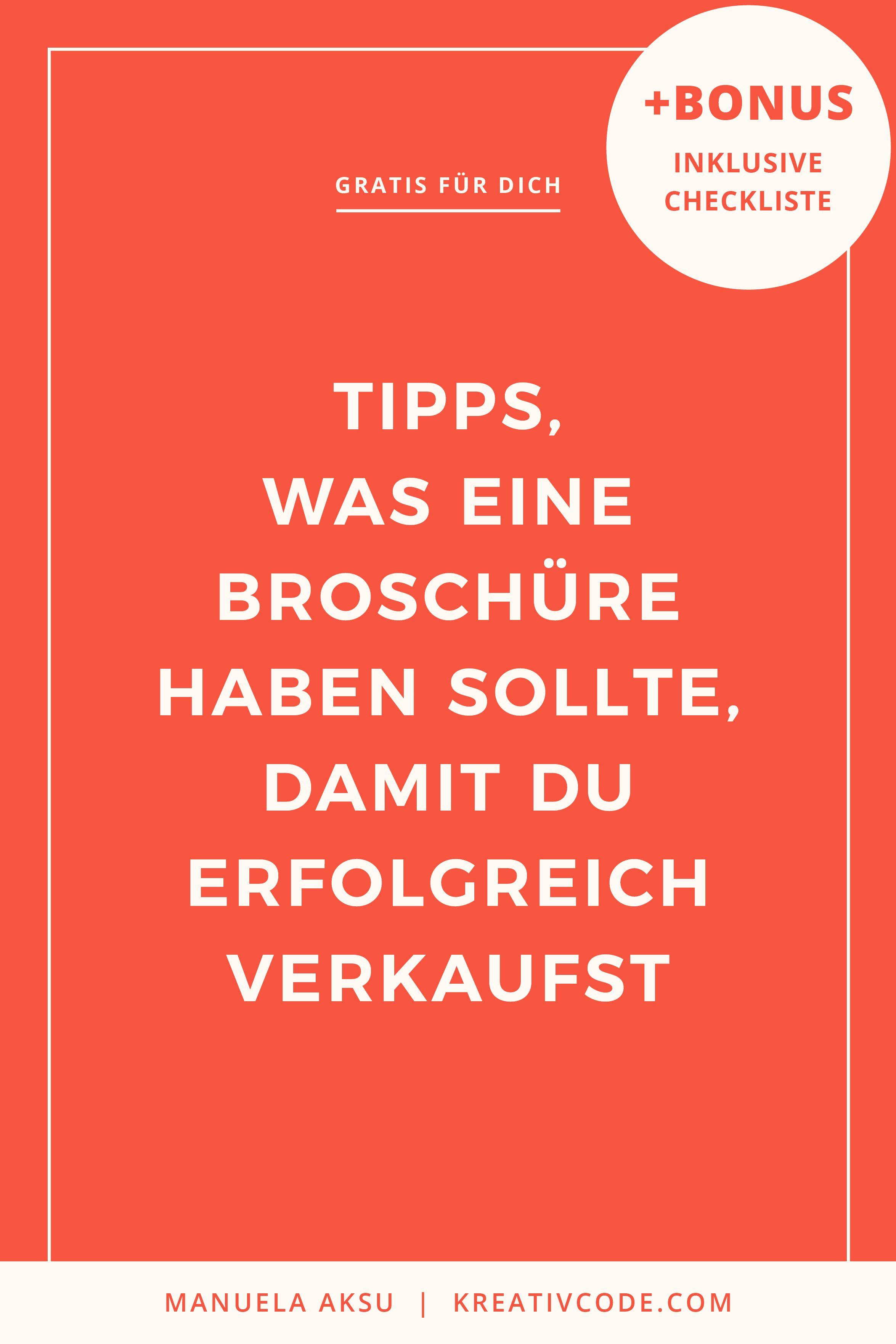 Checkliste für deine perfekte Broschüre | Leben | Logo ...
