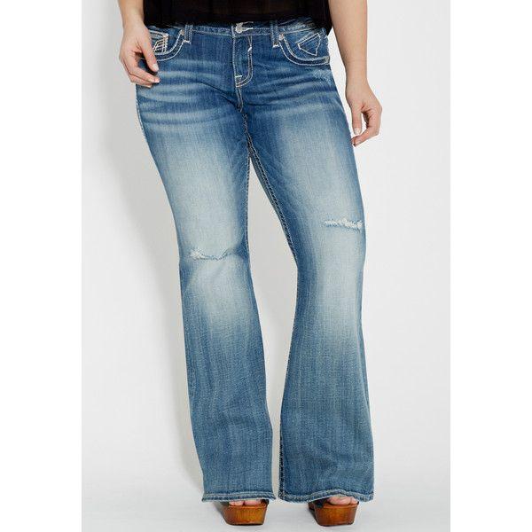 6fc702f4fa61d maurices Plus Size - Vigoss Medium Wash Flare Jeans (€68) ❤ liked ...
