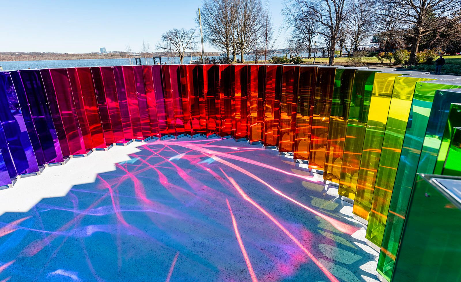 Dozens Of Mirrored Prisms Respond To Movement With