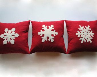 One Snowflake Christmas Pillow Cover Holiday Decorative Cushion Decoration