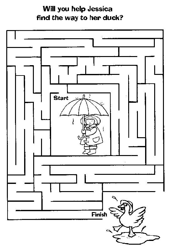 Maze Find Duck Mazes For Kids Mazes For Kids Printable Printable Mazes Maze worksheets for year olds