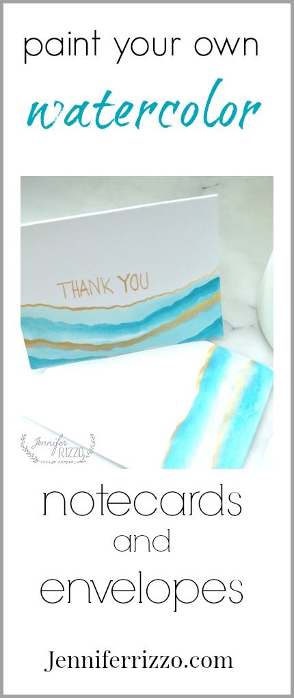 Paint Your Own Watercolor Note Cards And Envelopes Note Cards
