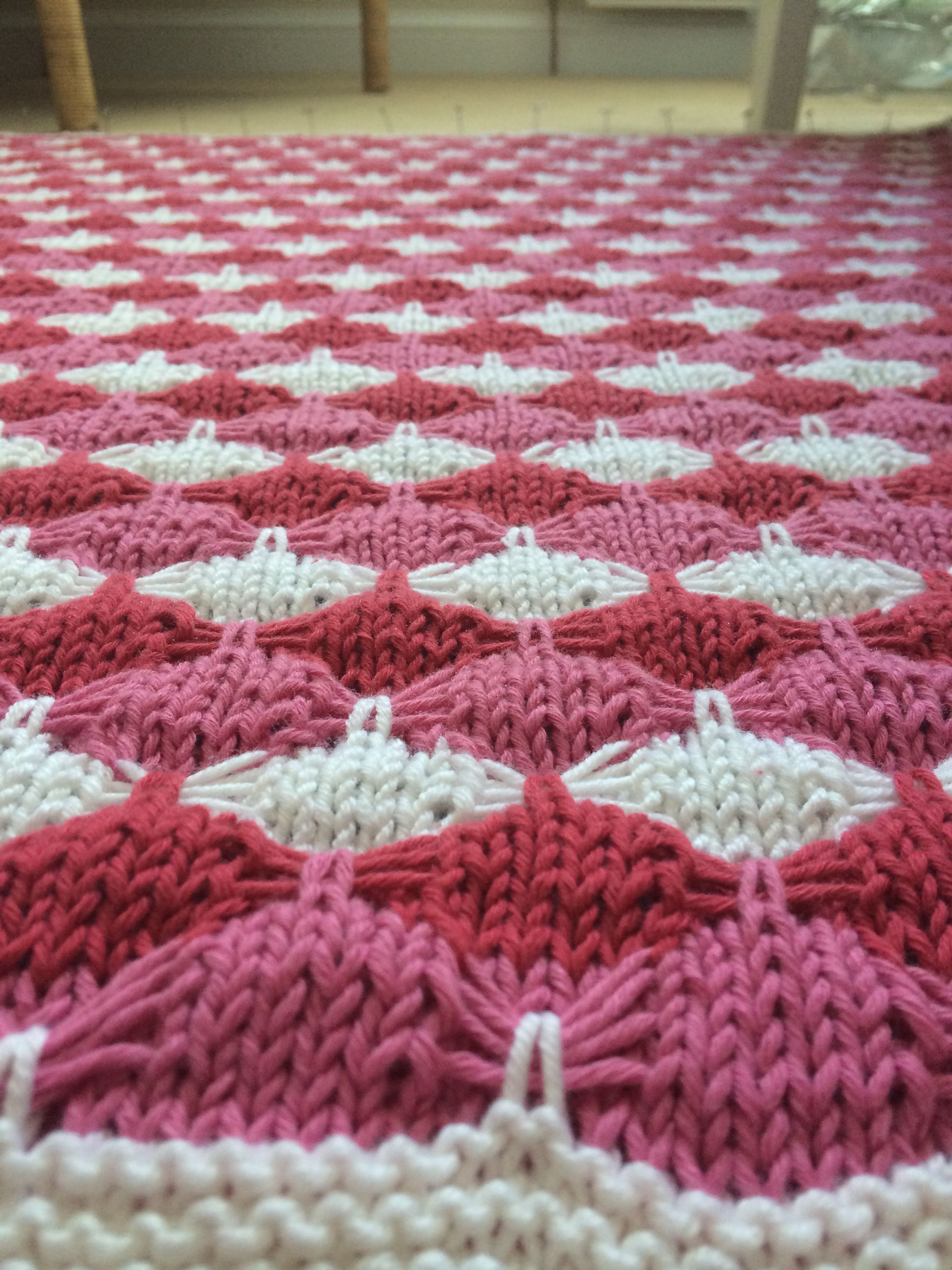 "Tri-colour ""treetops"" blanket"