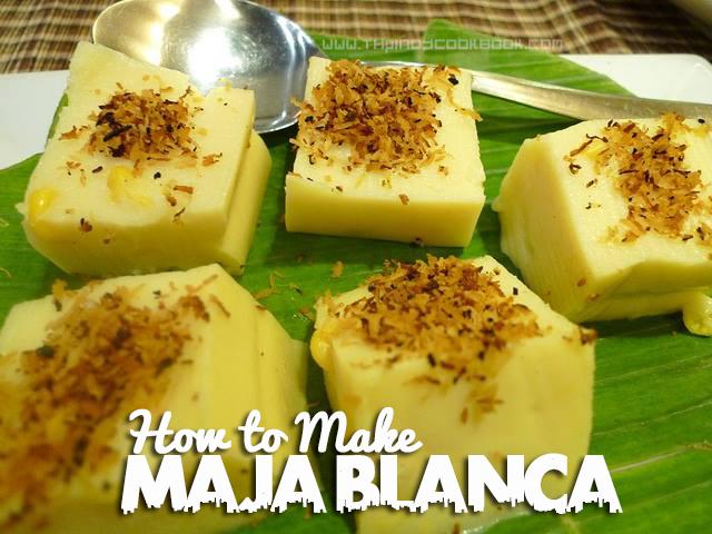 How To Cook Maja Blanca Easily Recipe & Tutorial Make Prepare Ingredients Ways E...