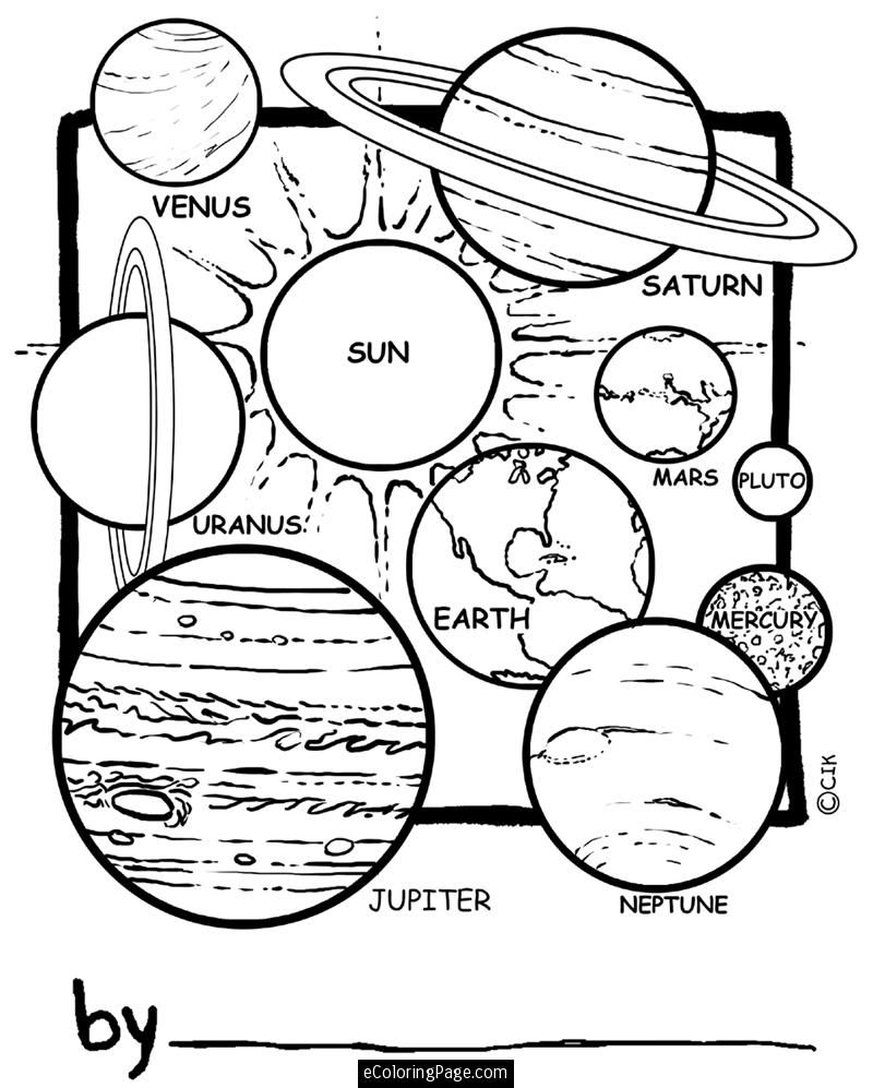 Space Pictures For Kids To Color Planets In Our Solar System