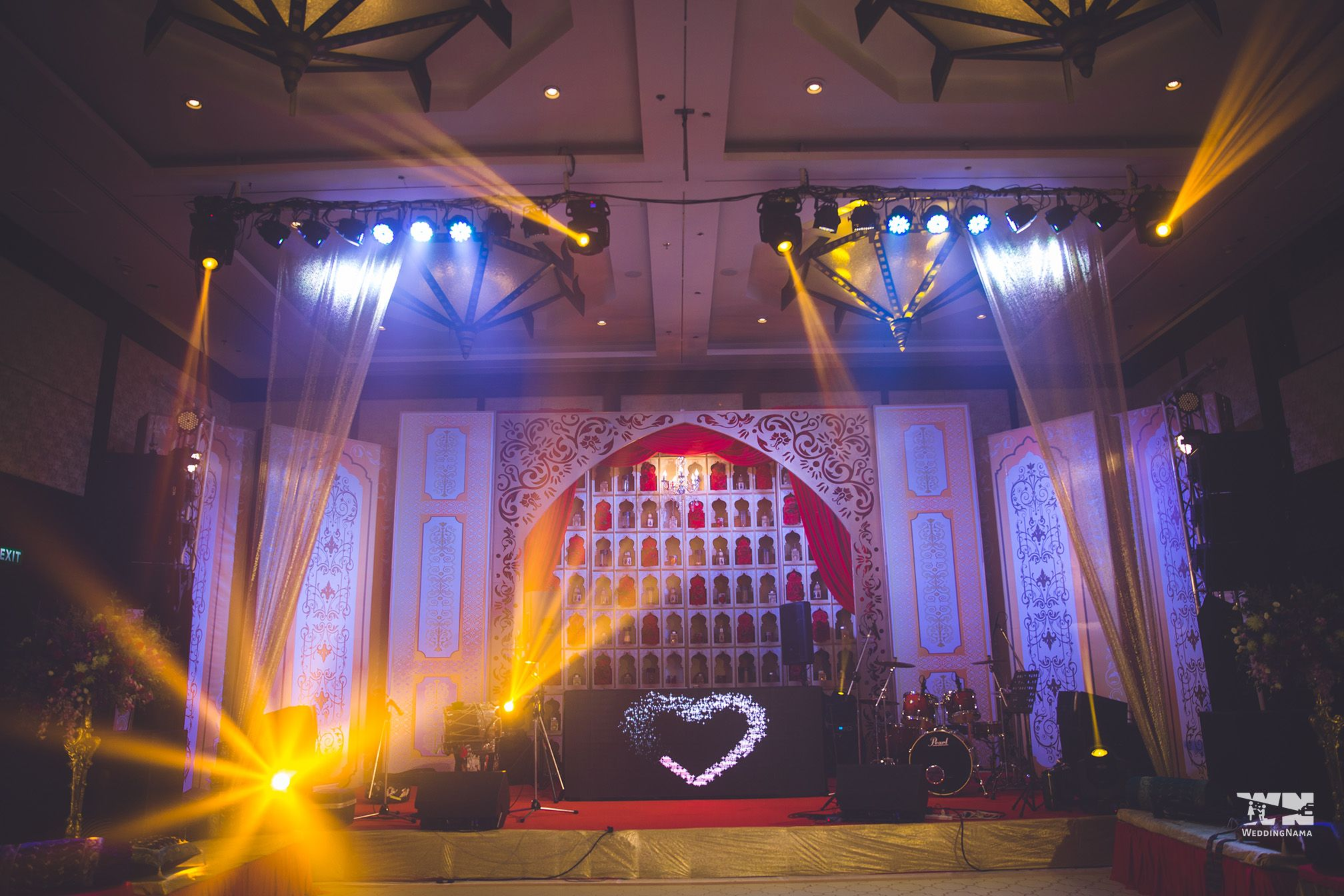 Rajasthani wedding stage decoration  Krish u Reshuus Trendsetting Phuket Wedding wedding weddingdecor