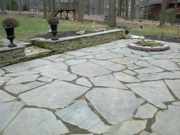 Amazing Large Patio Stones | BBu0027s Landscapes And Lawn Service   Natural Stone Dry  Stack