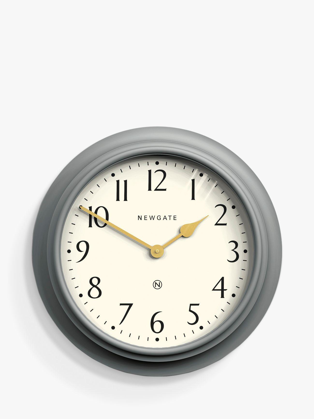 Newgate Clocks Westhampton Large Analogue Wall Clock 50cm Posh Grey In 2020 Newgate Clocks Large Wall Clock Wall Clock