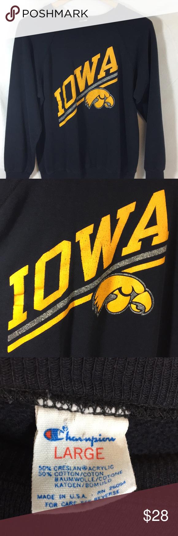 Vintage Champion Iowa Sweatshirt Sweatshirts Vintage Champion Sweatshirt Shirt [ 1740 x 580 Pixel ]
