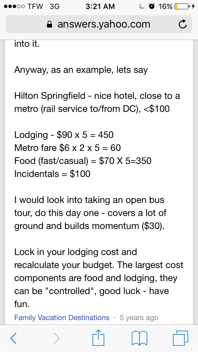 Yahoo! Answers to inexpensive trip to D.C. | Trip, Metro ...