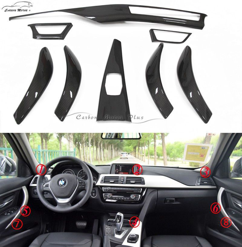 For BMW 3 4 Series F30 F34 GT F36 4 Doors Carbon Fiber