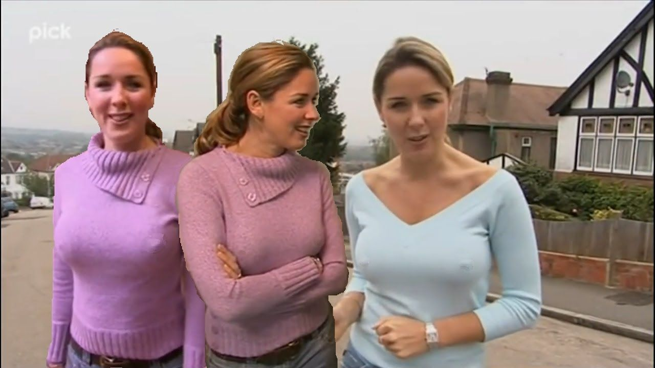 Claire Sweeney  Wearing Very Tight Tops  Fantastic -4331
