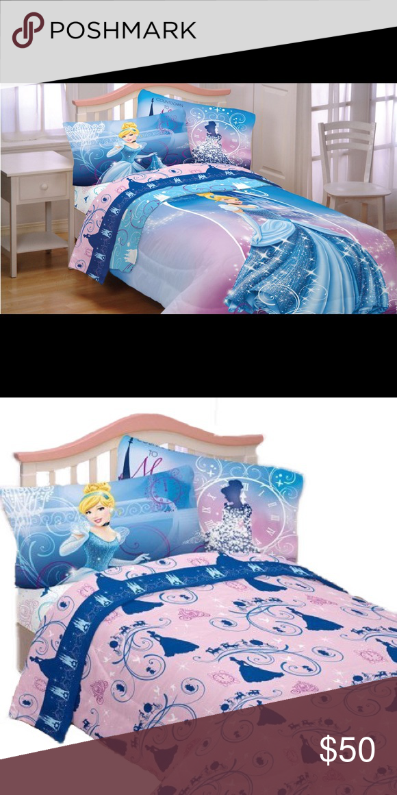 Disney Cinderella Twin Sheet Set Secret Princess Twin