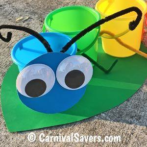 Closeup DIY Caterpillar Game