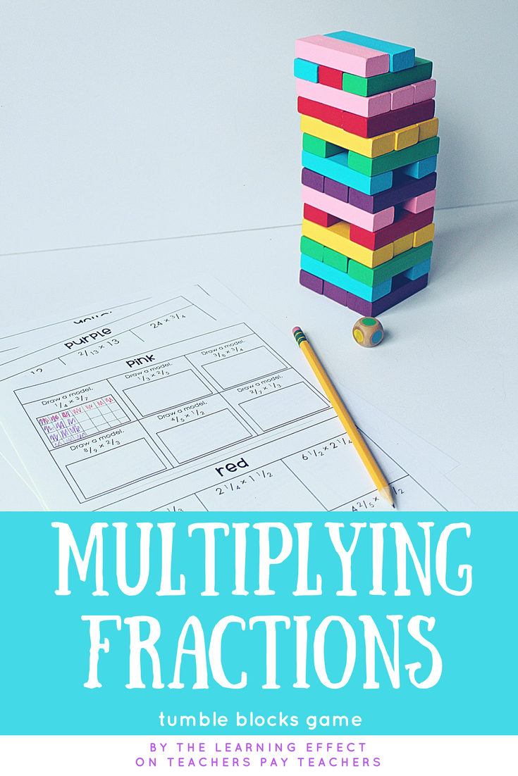 Multiplying Fractions Game | * Resources from The Learning Effect ...