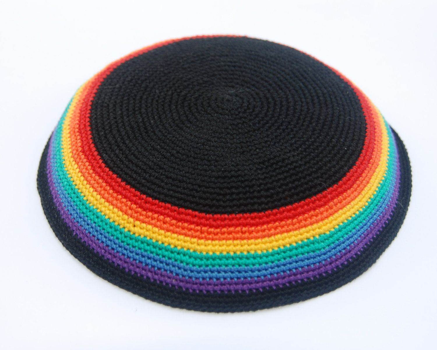 Kippah perfect for Pride Month (via etsy seller Shoshi Studio ...