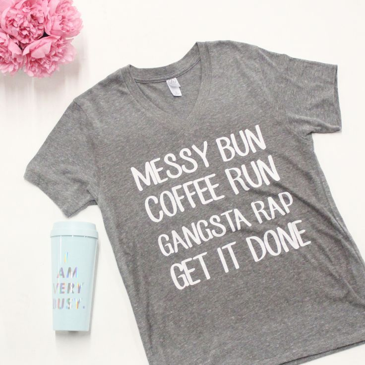 8df3f4990 Messy Bun Coffee Run V-Neck Graphic Tee in 2019 | Graphic Tees ...