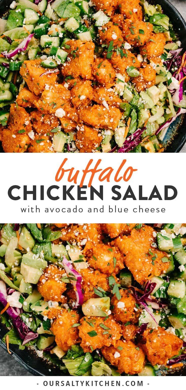 Restaurant Quality Buffalo Chicken Salad Recipe Dinner Salads Healthy Recipes Easy Healthy Recipes
