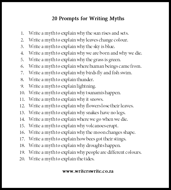 myths to write a paper on