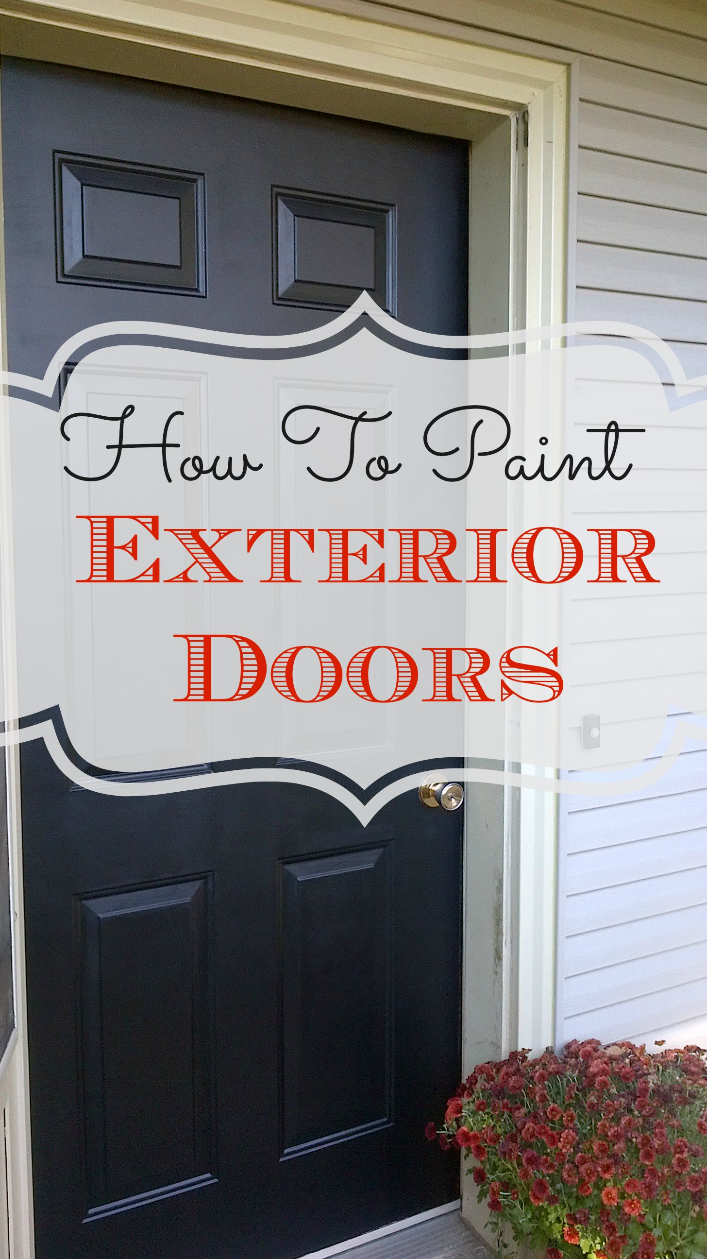 DIY   How To Paint Exterior Doors!   Nest Of Bliss Part 41