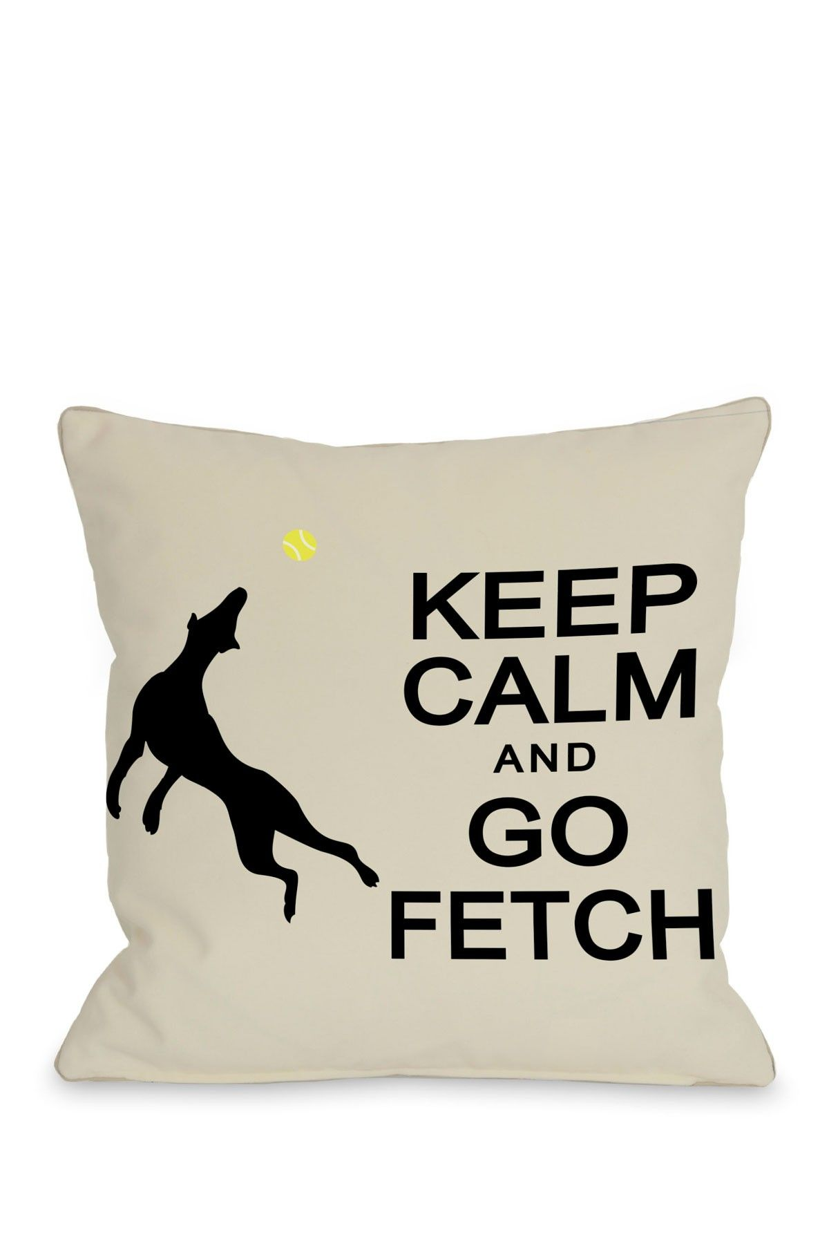 Keep Calm & Go Fetch Pillow Throw pillows, Pillows
