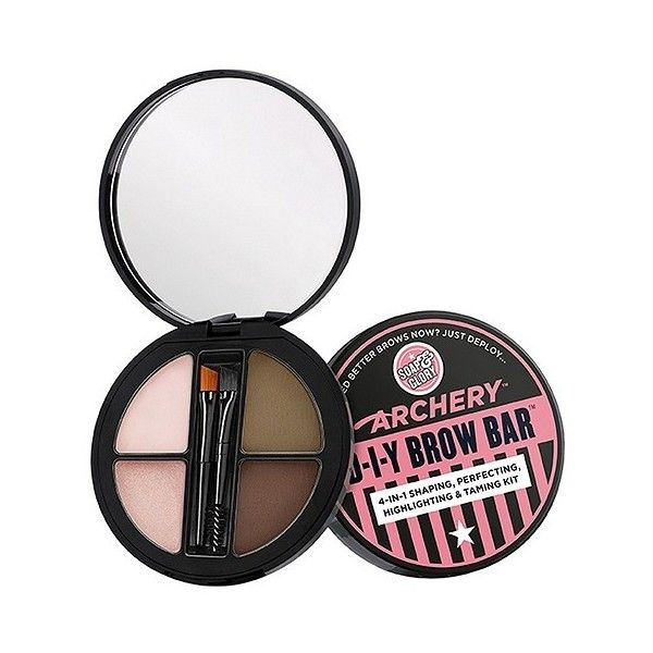 Soap & Glory Archery Diy Brow Bar . oz, Brown found on Polyvore featuring beauty products, makeup, eye makeup, brown, eyebrow cosmetics, eyebrow makeup, eye brow makeup and brow makeup