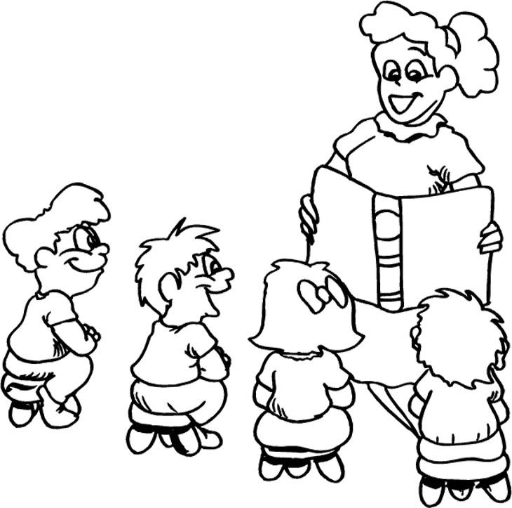 Teacher Coloring Pages Kindergarten Coloring Pages School