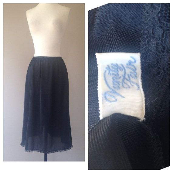 27 Inch Half Skirt Slip Vintage 1960's Lingerie by Vanity Fair