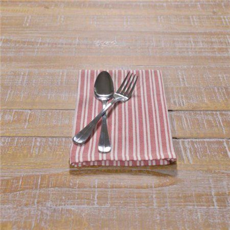 VHC Brands Classic Stripe Napkin Set of 6